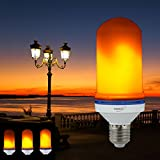 LED Flame Effect Light Bulb: 3 Modes - Flickering Simulated Decorative Fire E26 Lamp Lantern – Great for creating Bar Romantic Festival Restaurant Atmosphere and Mood lighting