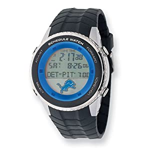 Mens NFL Detroit Lions Schedule Watch by Jewelry Adviser Nfl Watches