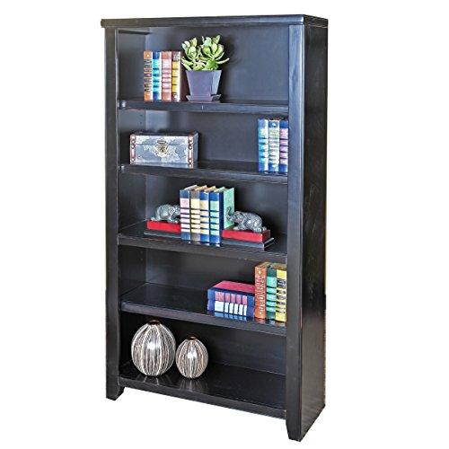 kathy ireland Home by Martin Tribeca Loft Black Bookcase, 60