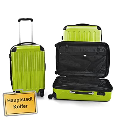 HAUPTSTADTKOFFER® 3 hard shell suitcase luggage · 45 liter (55 x 35 x 20 cm) + case 87 liter (63 x 42 x 28 cm) + case 130 liters (75 x 52 x 32 cm) · high gloss · Combination Lock