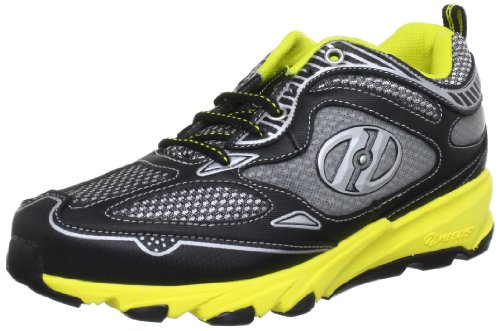 Heelys SWIFT 7973, Unisex-Kinder Sneaker, Schwarz (Black/Yellow/Metallic Silver), EU 38 (US 6)