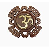 PINDIA BEAUTIFUL DESIGN WOOD HOME OFFICE WALL HANGING DECORATIVE OM SHOWPIECE GIFT ITEM