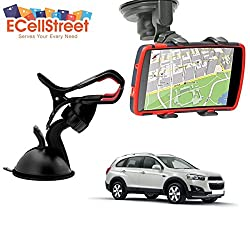 ECellStreet TM Mobile phone soft tube mount holder with suction cup - Multi-angle 360° Degree Rotating Clip Windshield Dashboard Smartphone Car Mount Holder CHEVROLET Spark