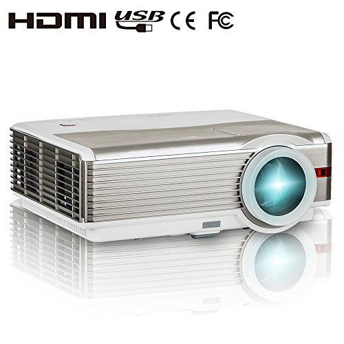 EUG X99 HD Projector Home Cinema 4200 Lumen WXGA 1080p Video TV Projector 3D DVD HDMI USB VGA Audio for Laptop PC iPhone Mac PS4 Movie Gaming Outdoor Theater 1280800 Native Resolution