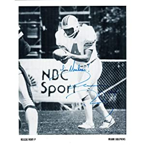 Reggie Roby Autographed 8x10 Miami Dolphins Photo by Hollywood Collectibles