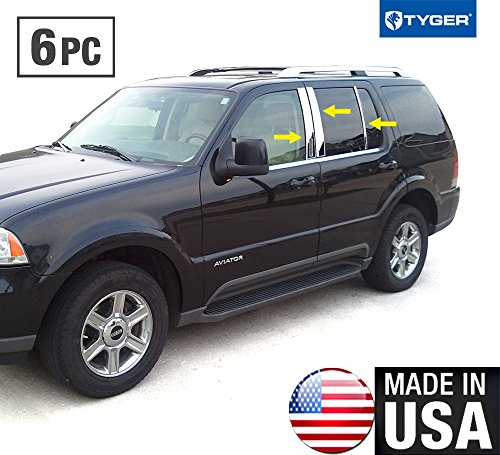 made-in-usa-fit-2004-2009-lincoln-mercury-aviator-with-keypa-stainless-steel-door-pillar-posts-chrom
