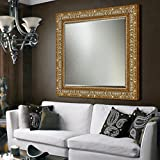 Elegant Arts & Frames Antique Gold And Silver Wall Decorative Wood Mirror 30 Inch X 30 Inch