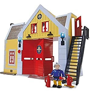 Fireman Sam - Fire Station Deluxe with Light, Sound & Character Steele