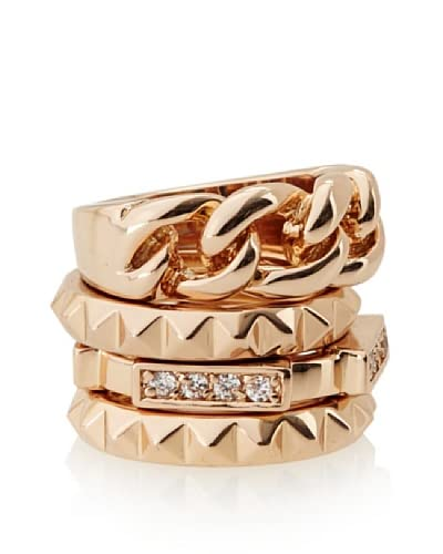 Beyond Rings Venetian Set of 4 Stack Ring Set