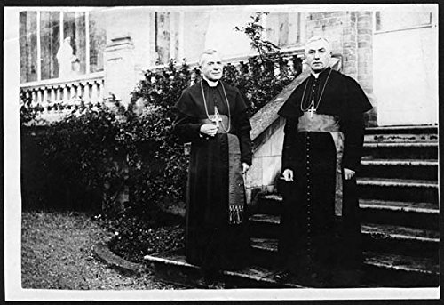 poster-visit-of-cardinal-bourne-to-france-the-two-churchmen-in-their-robes-are-at-the-centre-photogr