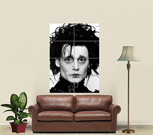 EDWARD SCISSORHANDS GIANT PICTURE ART PRINT POSTER J8197