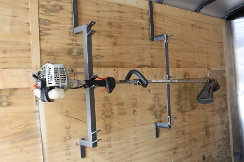 Three Place Trimmer Rack For Enclosed Trailer