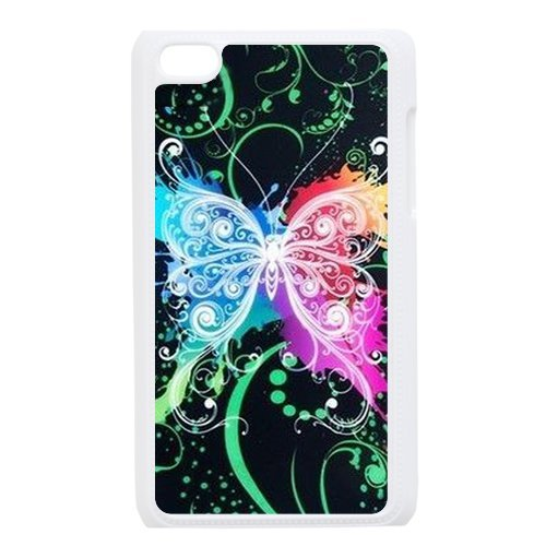 Generic Cell Phone Cases Cover For Apple Ipod Touch 4 Case Fashionable Art Designed With Beautiful Butterfly - K Personalized Shell front-865774