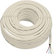 Audiovox Accessories TP003RV Round Line Cord-50' WHT PHONE WIRE
