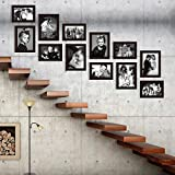 Elegant Arts & Frames Classic Set Of 12 Brown Colour Family Wall Collage Photo Frames