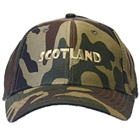 Mens Scotland Embroidered Camouflage Baseball Cap