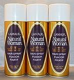 Lamaur Natural Woman Ultra Hold Professional Hair Spray 80% Voc 12 oz (3 pack)