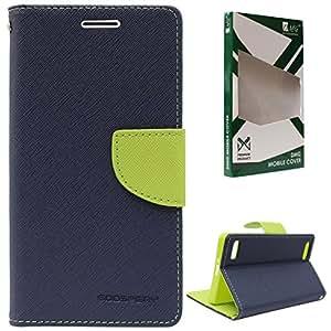DMG Premium Fancy Diary Wallet Flip Cover Case for Oppo Neo 7 (Pebble Blue)