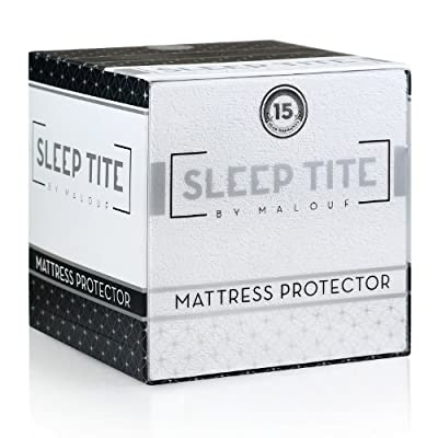 Sleep Tite by Malouf Hypoallergenic 100% Waterproof Mattress Protector- 15-Year Warranty