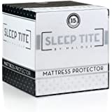 SLEEP TITE Hypoallergenic 100% Waterproof Mattress Protector - 15-Year Warranty - Vinyl Free - Queen