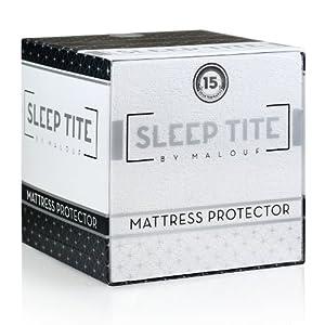 Sleep Tite by Malouf® Hypoallergenic 100% Waterproof Mattress Protector- 15-Year Warranty - Queen