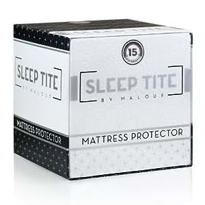 Sleep Tite by Malouf® Hypoallergenic 100% Waterproof Mattress Protector- 15-Year Warranty - Full