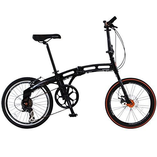 DOPPELGANGER(ドッペルギャンガー) 折りたたみ自転車 BLACKMAXシリーズ ASSAULTPACK 211 20インチ パラレルツインチューブフレーム採用モデル
