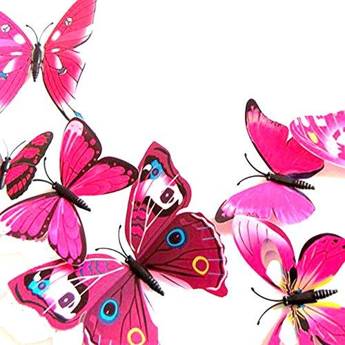 Goodlucky365 72 stickers muraux de papillons 3d sticker - Stickers muraux pour salon ...