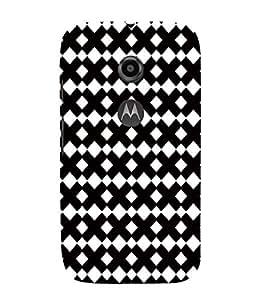 EPICCASE interlocks Mobile Back Case Cover For Moto E 2nd Generation (Designer Case)
