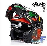 システムヘルメット フリップアップヘルメット バイクヘルメット 多色 人気商品 PSC規格品 男女通用 フルフェイスヘルメット ダブルシールド AK-919[商品4/L]