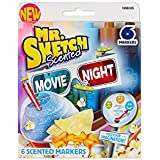 Mr. Sketch Scented Watercolor Markers, Chisel-Tip, Set of 6, Movie Night Colors