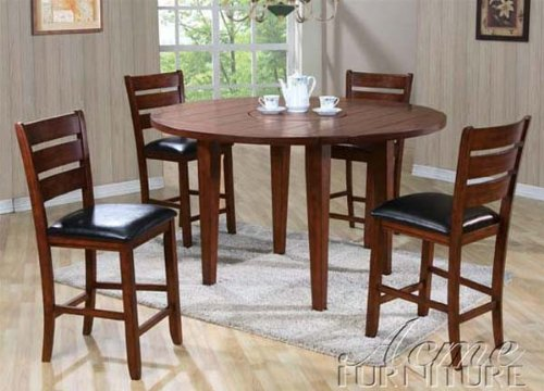 buy low price acme furniture 5pc counter height dining table stools