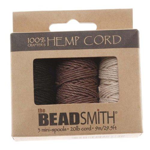 Hemp 1mm Twine Bead Cord, 29.5-Feet, Natural (Hemp Wire compare prices)