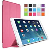 MoKo Apple iPad Mini 3, 2 and 1 Case - Ultra Slim Smart shell stand for mini3 (2014 edition with Touch ID), Mini2 ( 2013 model with Retina Display) and Mini (2012 1st gen), PINK