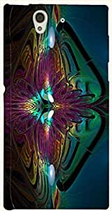 Lovely multicolor printed protective REBEL mobile back cover for Sony Xperia Z L36h D.No.N-T-1891-S36
