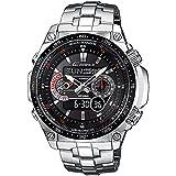 Casio Men's Solar Powered Radio Controlled Combi Bracelet Watch ECW-M300EDB-1AER