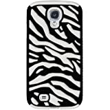 Amzer AMZ95759 Silicone PolyCarbonate Dual Layer Zebra Hybrid Case for Samsung Galaxy S4 GT-I9500 (Fits All Carriers) - 1 Pack - Retail Packaging - Black/ White