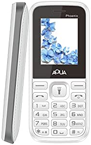 Aqua Phoenix Dual SIM Basic Mobile Phone Grey