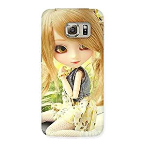 Special Cute Smiling Doll Multicolor Back Case Cover for Samsung Galaxy S6 Edge