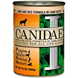 Canidae Canned Dog Food, Lamb and Rice Formula in Lamb Broth (Pack of 12 13 Ounce Cans)