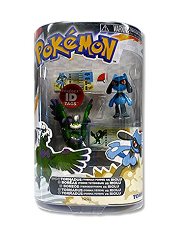 POKEMON Black and White: 2 Figurine Pack - Tornadus vs Riolu - 1