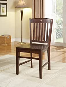 Heavy Duty Solid Wood Cherry Finish Dining Room - Kitchen Side Chair