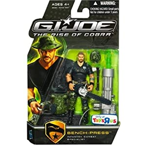 G.I. Joe Movie The Rise of Cobra 3 3/4 Inch Exclusive Action Figure BenchPress