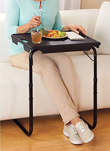 Portable & Foldable Tv Tray Table (Sliding Tv Table compare prices)