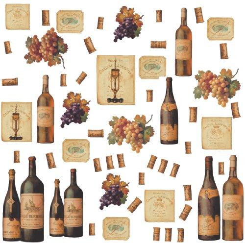 RoomMates RMK1257SCS Wine Tasting Peel & Stick Wall Decals
