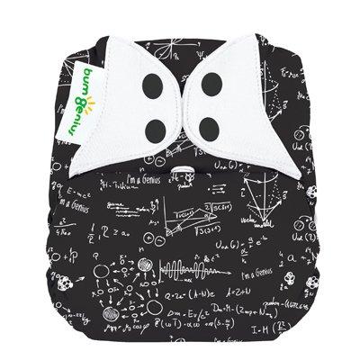 Single Bumgenius Elemental Organic Cloth Diaper All In One Albert Print front-1046302
