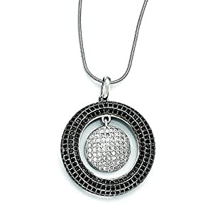 Sterling Silver & Cz Brilliant Embers Circles Necklace
