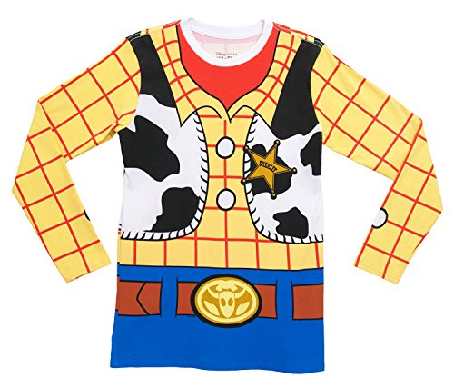 I Am Woody Toy Story Disney Pixar Movie Costume Adult Long Sleeve T-Shirt Tee