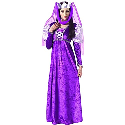 Purple Renaissance Queen Adult Costume - Standard