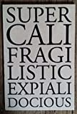MARY POPPINS FILM QUOTE SUPERCALIFRAGILISTICEXPIALIDOCIOUS WOODEN POSTCARD / SIGN - NEW